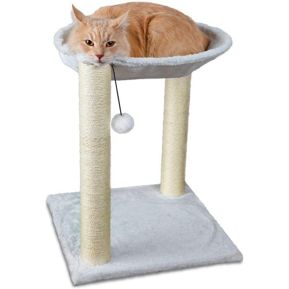 3-in-1 Cat Scratching Post With Hammock & Toy - Tall-