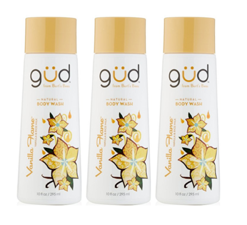 Daily Steals-[3-Pack] Gud Natural Vanilla Flame Body Wash, 10 fl.oz-Health and Beauty-