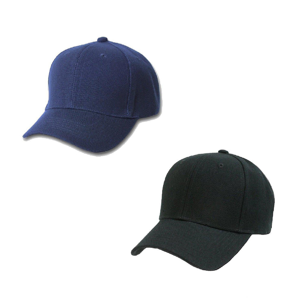 Daily Steals-[3-Pack] Plain Baseball Cap with Solid Color and Adjustable Velcro-Accessories-