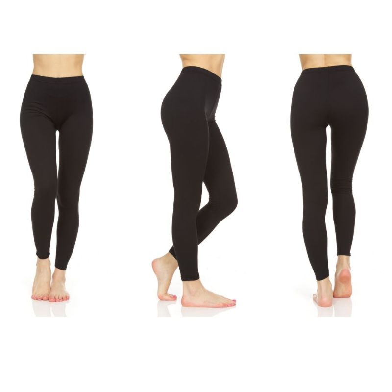 Women's Soft Stretch Brush Leggings - 3 Pack-S/M-Daily Steals