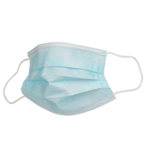 3 Ply Non-woven Disposable Face Masks - 100 Pack-