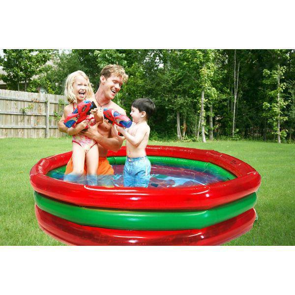 Daily Steals-3-Ring Pool Watermelon Style-Outdoors and Tactical-