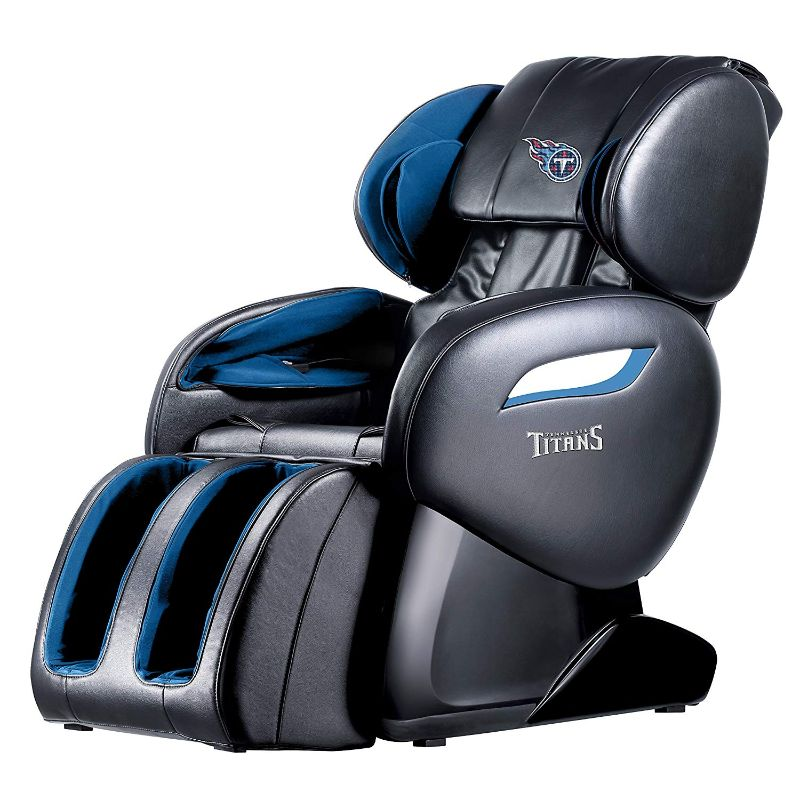 NFL Electric Full Body Shiatsu Massage Chair with Foot Roller-Tennessee Titans-Daily Steals