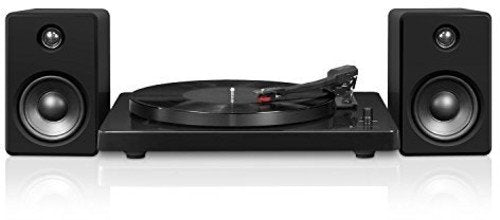 Victrola Modern 3-Speed Bluetooth Turntable with 50 Watt Speakers, Black Piano Finish-Daily Steals