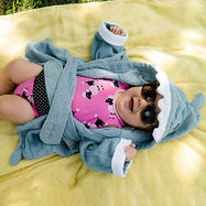 Pollywog Baby Shark Towel Robe-0-12 Months-Daily Steals
