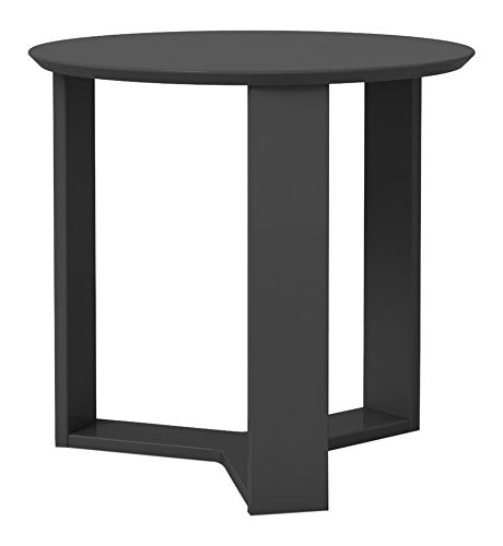"Madison 2.0- 23.85"" Round Accent End Table-Black Gloss-Daily Steals"