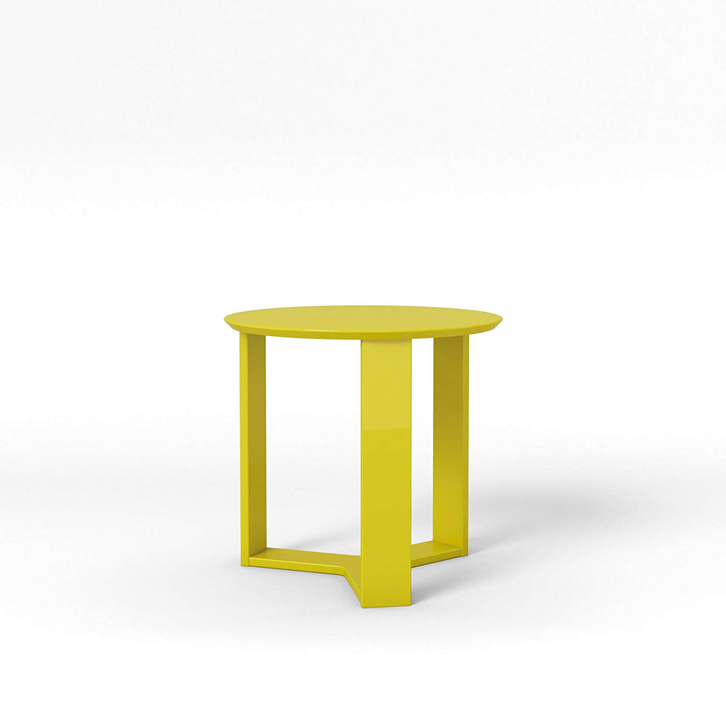 "Madison 2.0- 23.85"" Round Accent End Table-Lime Gloss-Daily Steals"