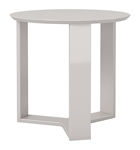"Madison 2.0- 23.85"" Round Accent End Table-Off White-Daily Steals"
