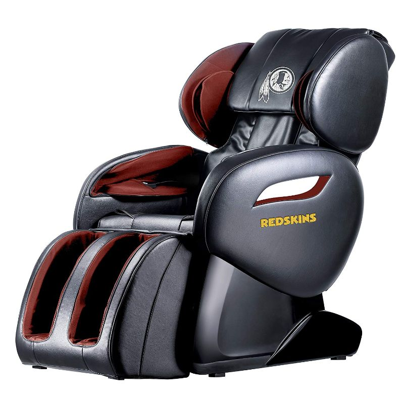 NFL Electric Full Body Shiatsu Massage Chair with Foot Roller-Washington Redskins-Daily Steals