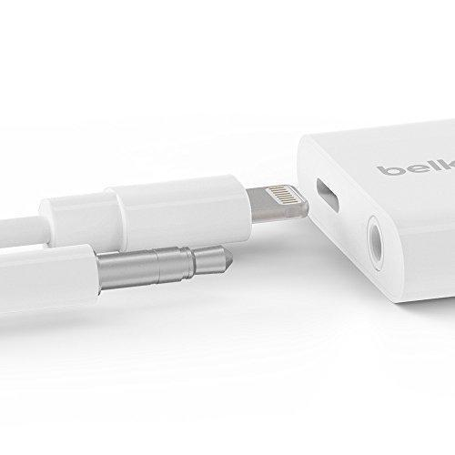 Belkin 3.5mm Audio + Charge Rockstar, iPhone Aux/Charging Adapter for iPhone XS, XS Max, XR, 8/8 Plus-Daily Steals