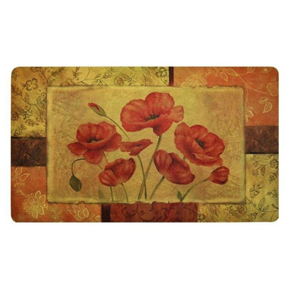 Anti-Fatigue Cushioned Kitchen Mats - 2 Pack-Jacobean Poppy-Daily Steals
