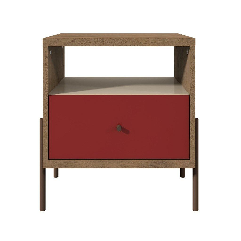 Joy 1-Full Extension Drawer Nightstand-Red-Daily Steals