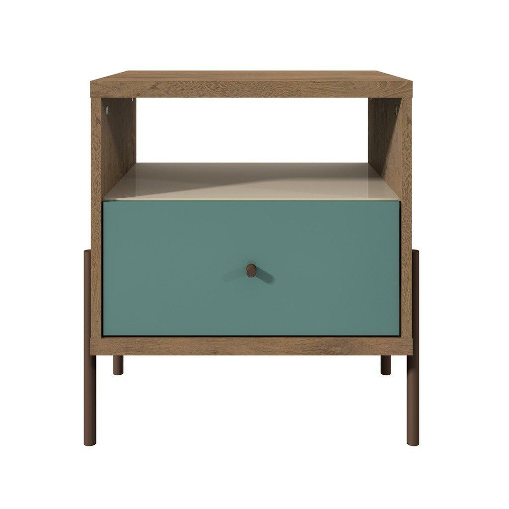 Daily Steals-Joy 1-Full Extension Drawer Nightstand-Home and Office Essentials-Blue-