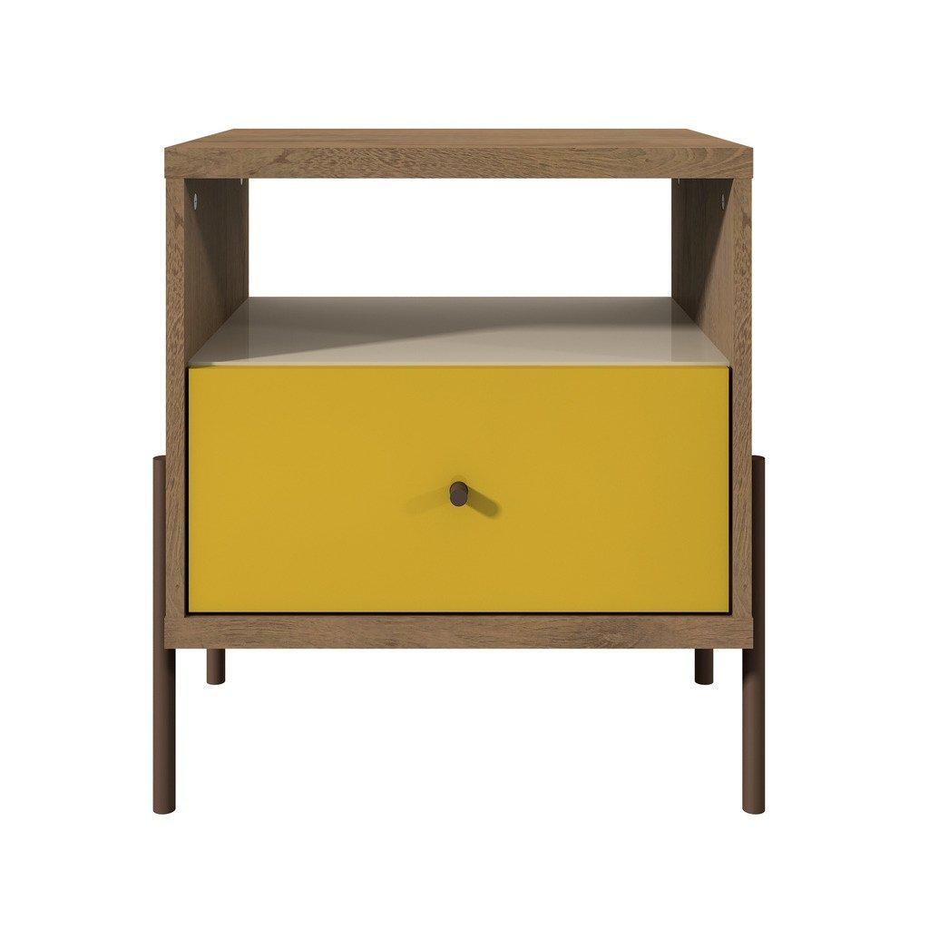 Daily Steals-Joy 1-Full Extension Drawer Nightstand-Home and Office Essentials-Yellow-