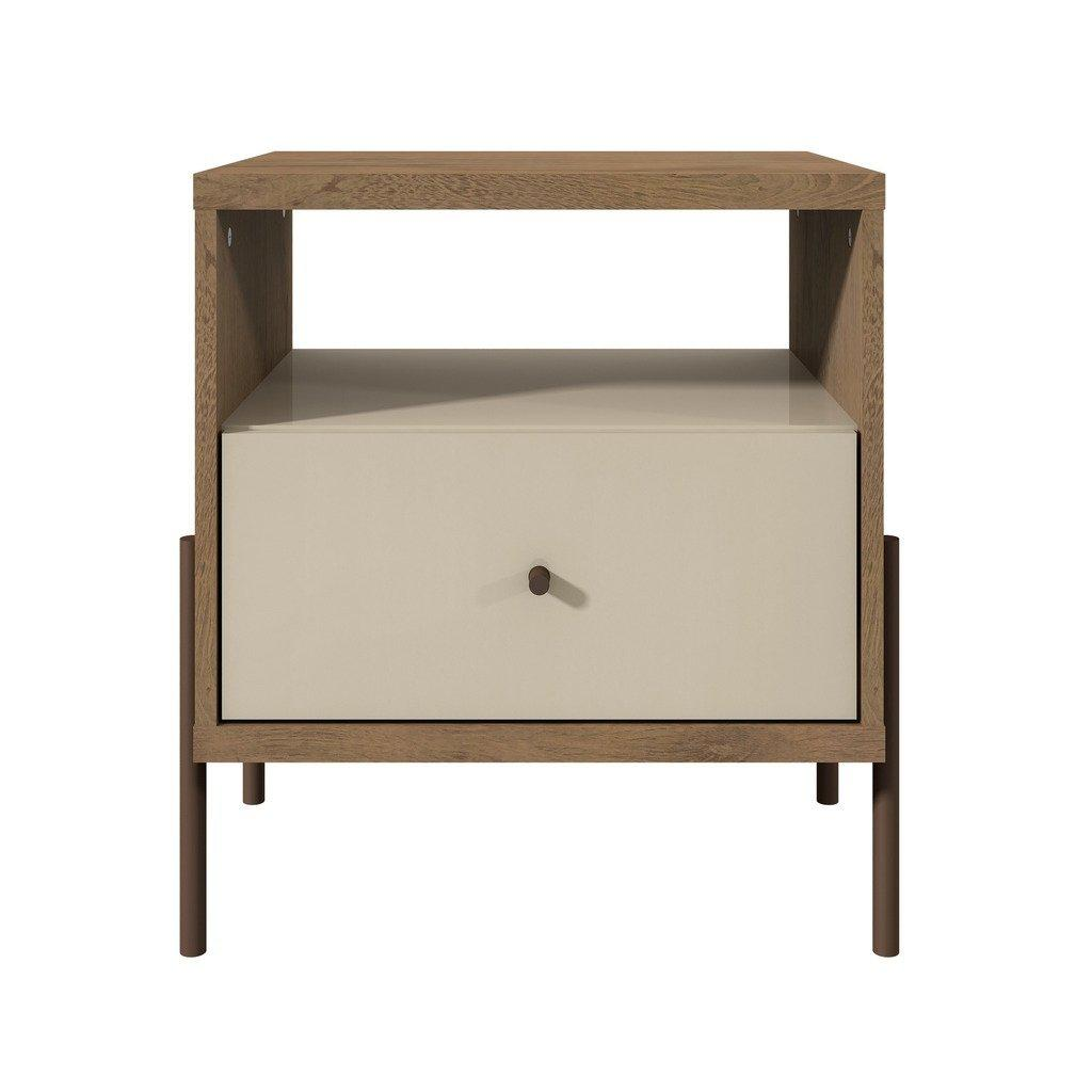 Joy 1-Full Extension Drawer Nightstand-White-Daily Steals