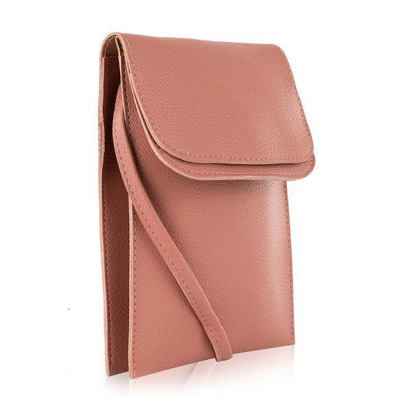 MKF Collection Charlie Cell Phone Sac bandoulière en cuir vegan-Mauve-Daily Steals