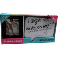 Dry Erase Board Light Up LED Bubble Memo Board with Photo Frame-Daily Steals