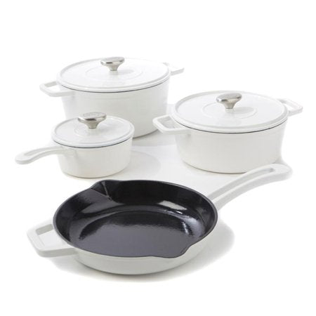 7-piece Enameled Cast Iron Cookware Set by Michael Symon Home-White-Daily Steals