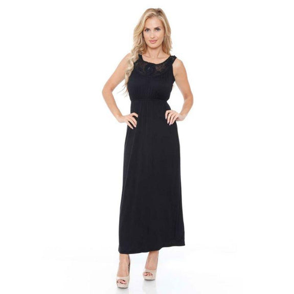 WhiteMark 'Katherine' Maxi Dress-Black-S-Daily Steals