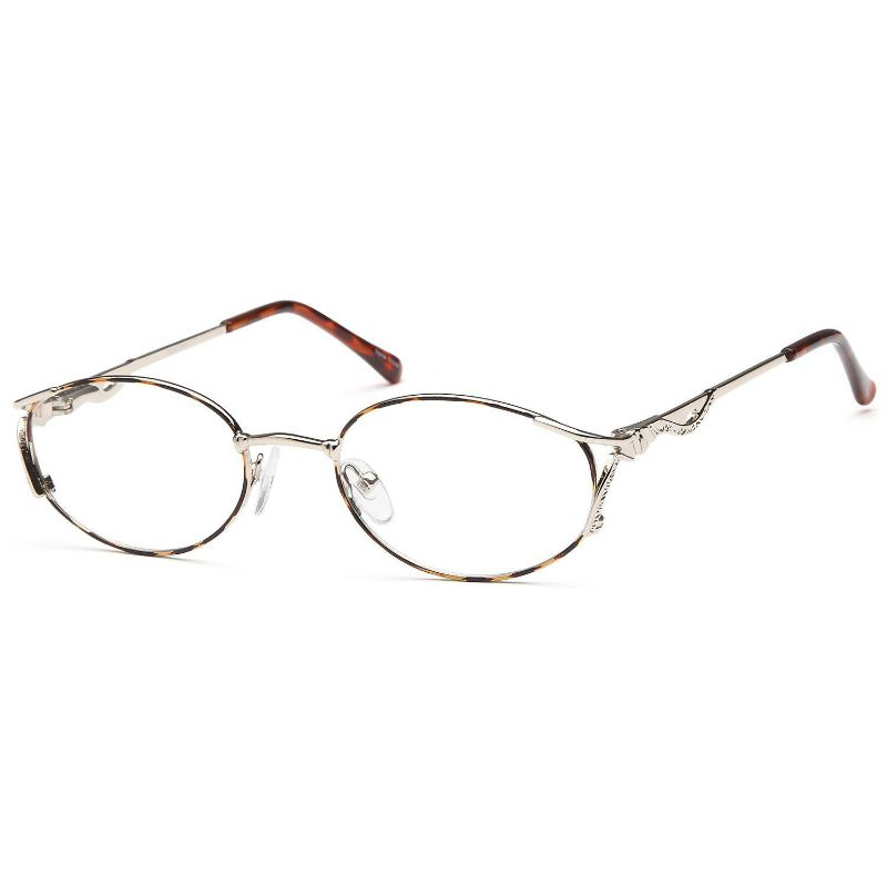 Women's Eyeglasses 51 18 135 Demi Amber Metal