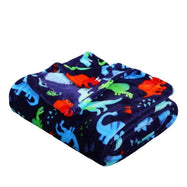 Noble House Printed Super Soft Microplush Throw Blanket-Navy Dino-Daily Steals