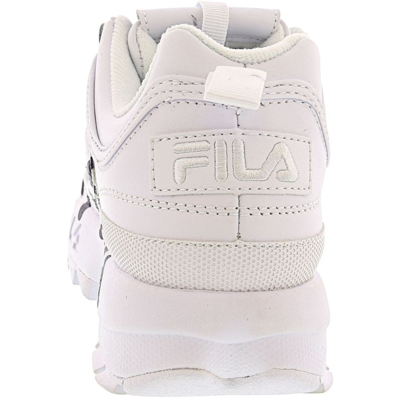 Fila Women's Disruptor Ii Script White/Navy Red Ankle-High Leather Sneakers-Daily Steals
