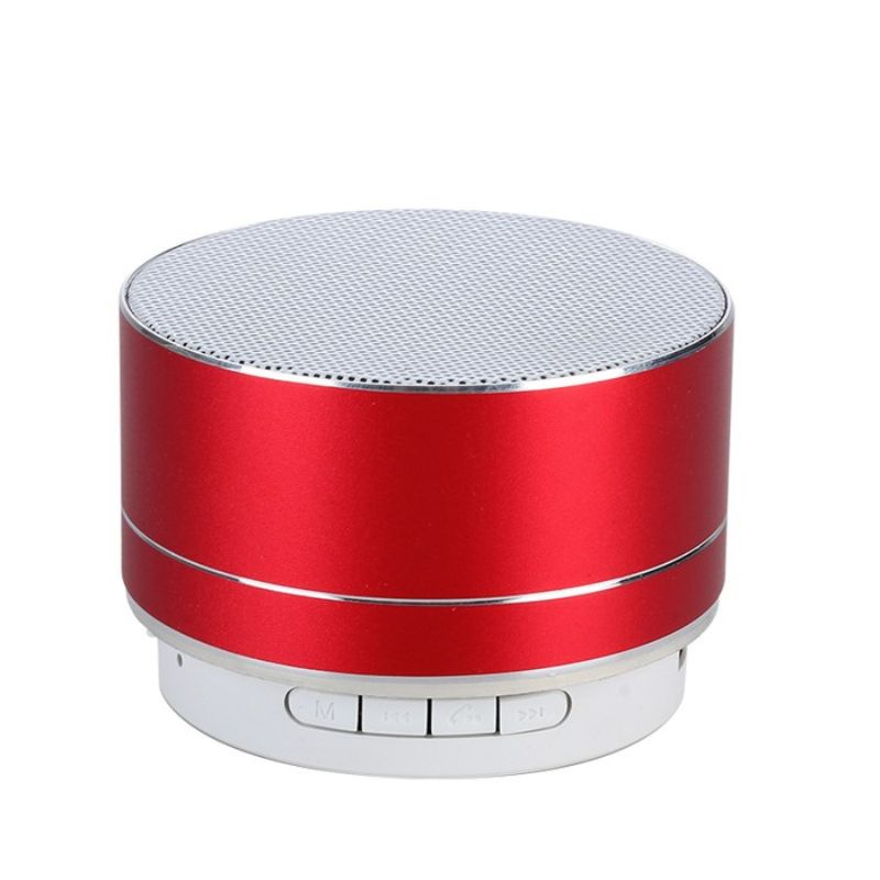 Wireless Bluetooth Speaker Portable & Metallic Design-Red-1-Pack-Daily Steals