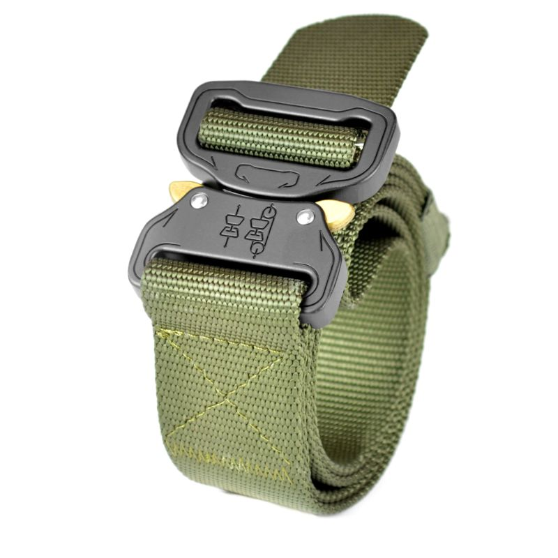 "Tactical 1.5"" Military Style Heavy-Duty Belt, Fast-Release Metal Buckle-Olive-Daily Steals"