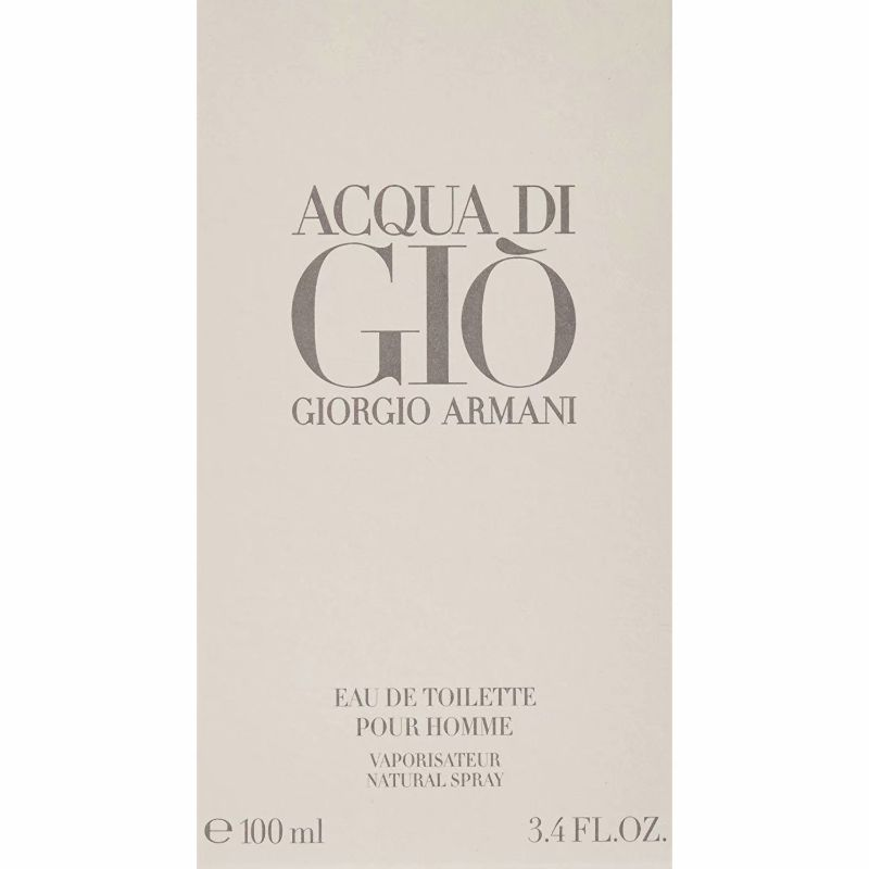 Acqua Di Gio By Giorgio Armani For Men. Eau De Toilette Spray 3.4 Ounces-Daily Steals