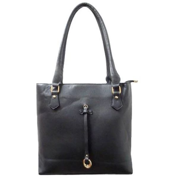 Patterson Leather Emily Tote-Black-Daily Steals