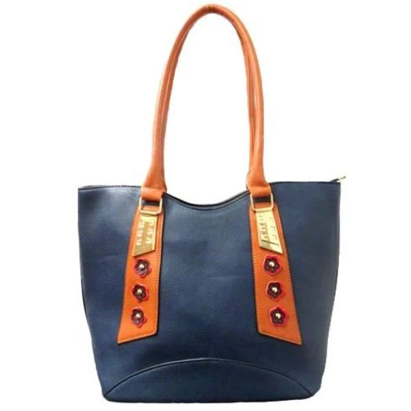 Stylish Tote Vintage Leather Handbag-Blue-Daily Steals