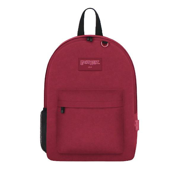 East West Classic Backpack with Key Holder and Bottle Holder-Burgundy-Daily Steals