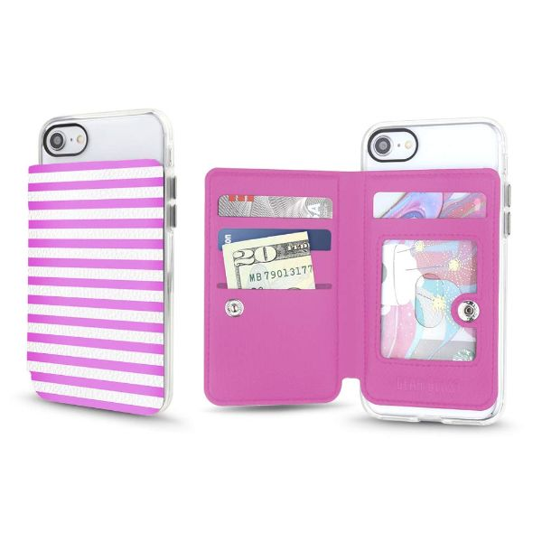 Gear Beast Universal Cell Phone Folio Wallet-Candy Stripes-Daily Steals