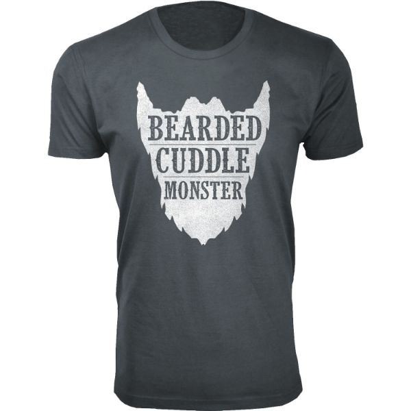 Daily Steals-Men's 'Awesome Beard' T-shirts-Men's Apparel-Bearded Cuddle Monster - Charcoal-S-