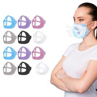 3D Colorful Support Face Masks with Bracket For Comfortable Breathing-12 Pack-