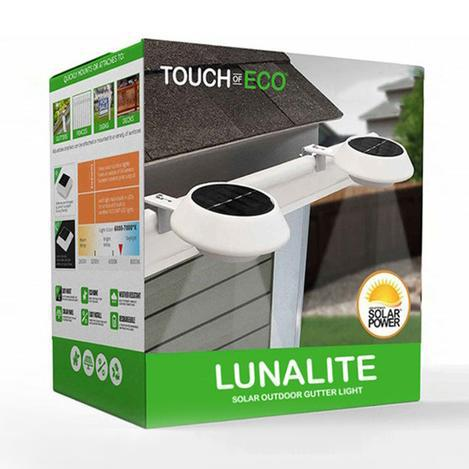 Daily Steals-Lunalite Solar Outdoor Gutter Light - 4 Pack-Home and Office Essentials-