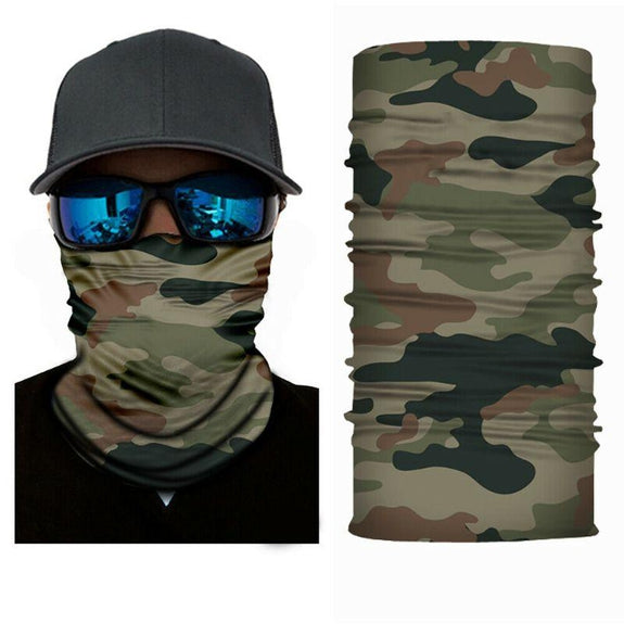 Face Mask and Neck Warmer with Dust and Sun UV Protection for Snowboarding-Camouflage-Daily Steals