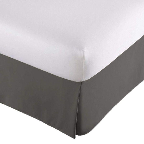 100% Ultra-Plush Microfiber Bed Skirt-Grey-Pleated-Full-Daily Steals