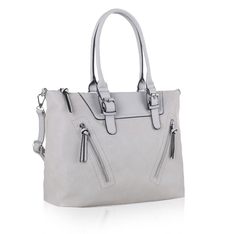Leone Satchel Handbag by MKF-Grey-Daily Steals