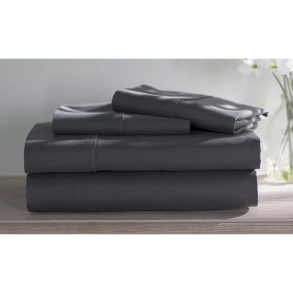 Dorm Room Bamboo Twin Extra Long Sheet Set- 3 Piece-Grey-Full-Daily Steals