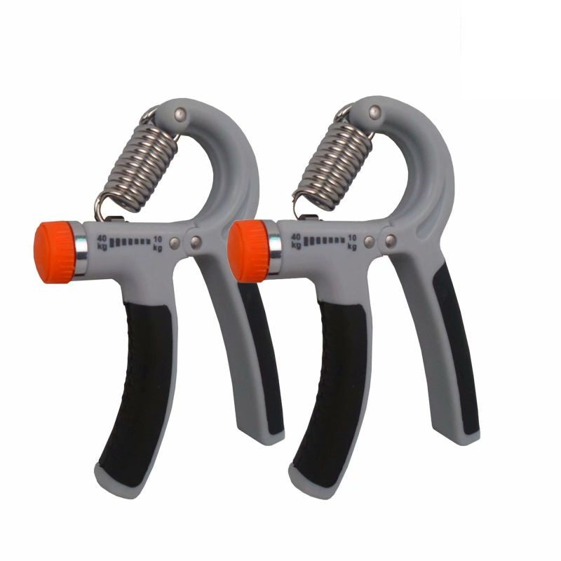 Hand Gripper with Adjustable Resistance - 2 Pack-Grey/Black-Daily Steals
