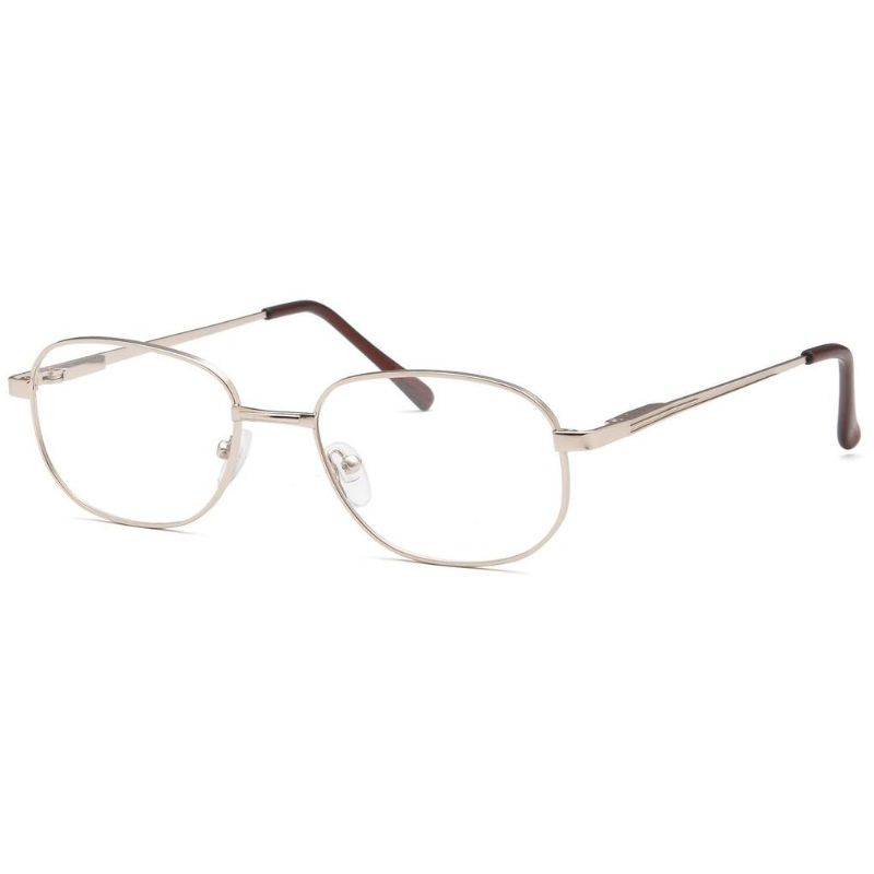 Men's Eyeglasses 56 19 145 Gold Metal