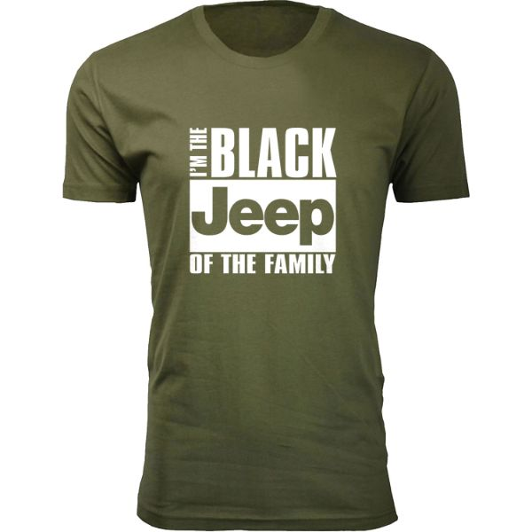 I/'M the Black JEEP of The Family funny T-Shirt Mens Sport Grey Tee New 2
