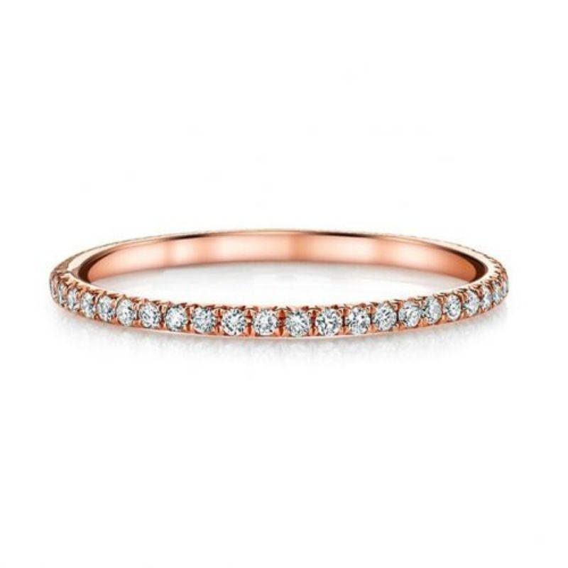 3mm Eternity Bang Ring embellished With Crystals In 18k White Gold Filled-Rose Gold-10-Daily Steals