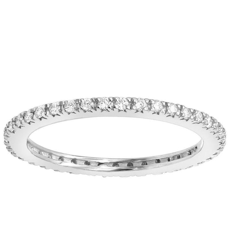 3mm Eternity Bang Ring embellished With Crystals In 18k White Gold Filled-White Gold-6-Daily Steals