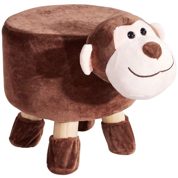 Cheer Collection Kids Mini Padded Animal Footrest-Monkey-Daily Steals