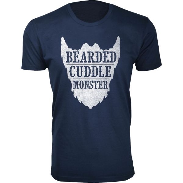 Daily Steals-Men's 'Awesome Beard' T-shirts-Men's Apparel-Bearded Cuddle Monster - Navy-S-