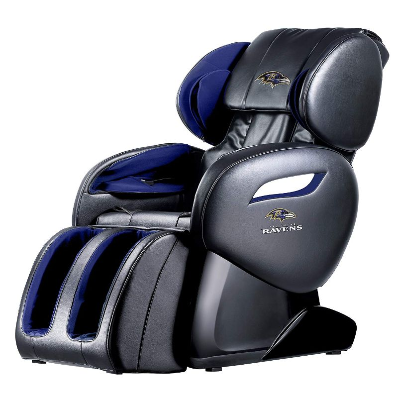 NFL Electric Full Body Shiatsu Massage Chair with Foot Roller-Baltimore Ravens-Daily Steals