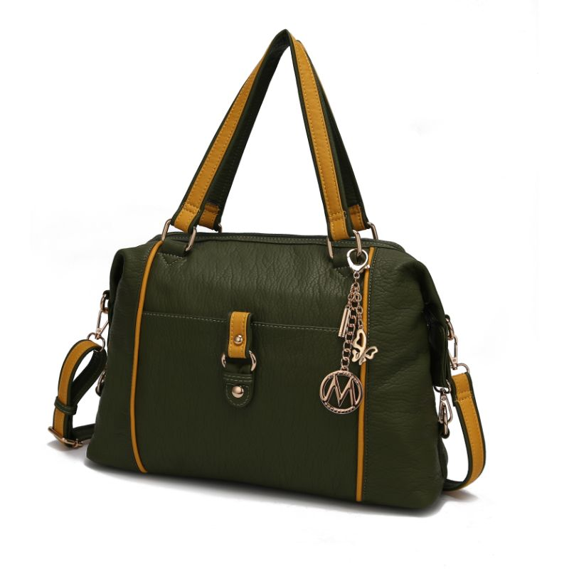 Opal Satchel Handbag by MKF-Green-Yellow-Daily Steals