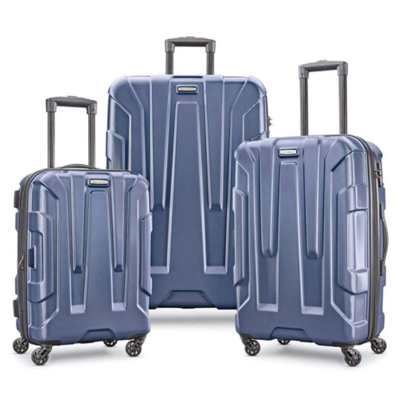 "Samsonite Centric 3pc Nested Hardside Spinner Luggage Set - 20"", 24"", 28""-Navy Blue-Daily Steals"